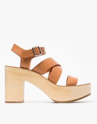 Loeffler Randall Wood Clog In Light Cuoio
