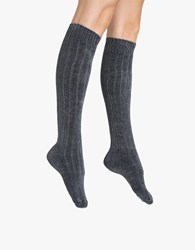 Hue Chenille Knee Sock Thunder