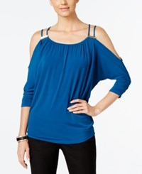 Thalia Sodi Cold Shoulder Top Only At Macy's Blue