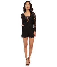 Brigitte Bailey Como All Over Lace Romper Black Women's Jumpsuit And Rompers One Piece