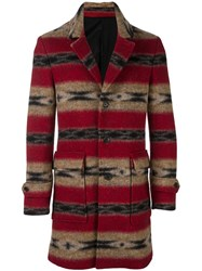 Paul And Joe Striped Coat Red