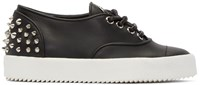 Giuseppe Zanotti Black Spiked May London Sneakers