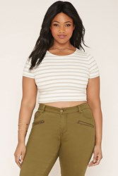 Forever 21 Plus Size Striped Crop Top