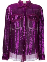 Lanvin Sequin Shirt Pink And Purple
