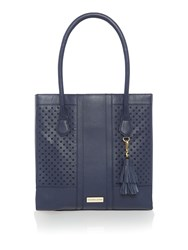 Dickins And Jones Tamerton Cut Out Tote Handbag Navy