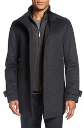 Boss Men's 'Camlow' Wool And Cashmere Car Coat Charcoal