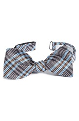 John W. Nordstrom Plaid Silk Bow Tie Brown