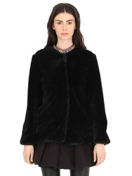 Cc By Camilla Cappelli Faux Fur Coat With Embroidered Trim