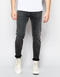 Weekday Friday Skinny Jeans In Stretch Base Black Base Black