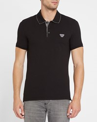 Armani Jeans Black Logo Inside Collar Slim Fit Polo Shirt
