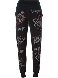 Philipp Plein Embellished Track Pants Black
