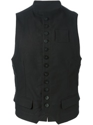 Ann Demeulemeester Fitted Button Down Gilet Black