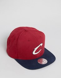 Mitchell And Ness Snapback Cap Cleveland Cavaliers Red