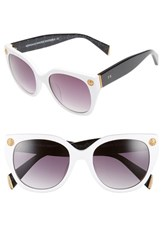 Women's Freida Rothman 'Margaux Elegant' 54Mm Retro Sunglasses White