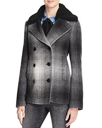 Alexander Wang T By Plaid Coat 100 Bloomingdale's Exclusive White Grey Black