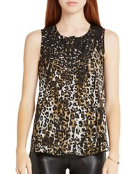 Bcbgeneration Leopard Print Sleeveless Top Grey