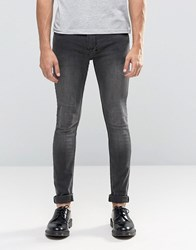 Religion Skinny Fit Hero Jeans In Black Veins Black Veins