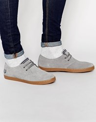 Fred Perry Byron Low Suede Trainers Grey