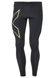 2Xu Elite Compression Tights Black Gold