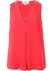 Michael Michael Kors Zip Detail Tank Red