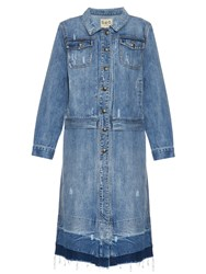 Sea Distressed Denim Coat