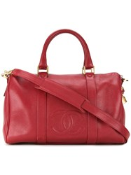 Chanel Vintage 'Boston' Tote Red