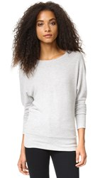 Cupcakes And Cashmere Pia Emily's Favorite Sweatshirt Light Heather Grey