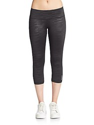 Reebok Nouvelle Printed Capri Leggings Black