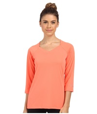Columbia Skiff Guide 3 4 Sleeve Coral Flame Women's T Shirt Orange