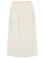 Needle And Thread Grid Mesh Skirt Dust Pink