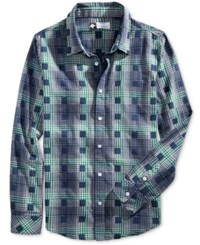 Lrg Men's Boxed In Plaid Shirt Navy