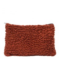 Pixie Market Brown Chunky Knit Clutch