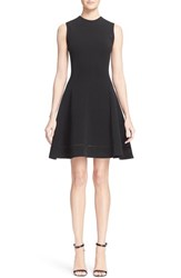 Victoria Beckham Women's Rib Knit Fit And Flare Dress