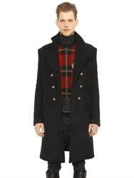 Balmain Double Breasted Cashmere Military Coat
