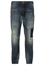 Edc By Esprit Rancher Straight Leg Jeans Dirty Used Destroyed Denim