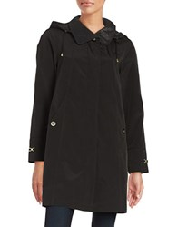 Gallery Petite A Line Rain Coat Black