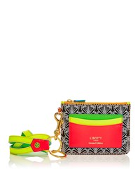 Neon Iphis Printed Outside Pocket Wallet W Necklace Strap Women's Liberty London