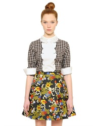 Vivetta Check Cotton And Wool Top