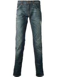 Dolce And Gabbana Distressed Skinny Jean Blue