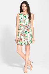 One Clothing Floral Print Skater Dress Juniors Multi