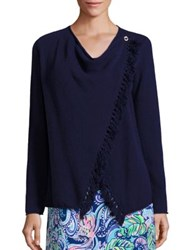 Lilly Pulitzer Avenue Cashmere Tassel Cardigan True Navy