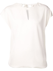 3.1 Phillip Lim Draped Key Hole Top White