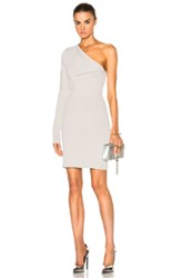 Dion Lee Axis Sleeve Knit Dress In Gray