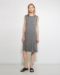 Alexander Wang Layered Pocket Tee Dress Heather Grey