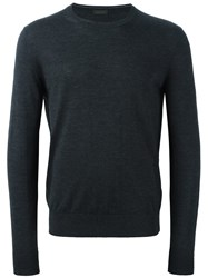 Z Zegna Long Sleeve Pullover Grey