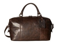 Frye Logan Overnight Slate Antique Pull Up Satchel Handbags Black