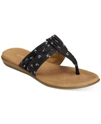 Aerosoles Chlairvoyant Flat Sandals Women's Shoes Black White Combo