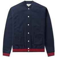 Maison Kitsune Mount Fuji Teddy Jacket Blue