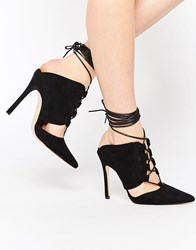Truffle Collection Skye Ghillie Heeled Mules Black