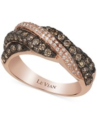 Le Vian Chocolatier Diamond Ring 1 1 10 Ct. T.W. In 14K Rose Gold No Color
